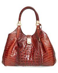 Brahmin - 'elisa' Croc Embossed Leather Shoulder Bag - Lyst
