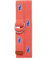 Vineyard Vines - Whale Embroidered Belt - Lyst