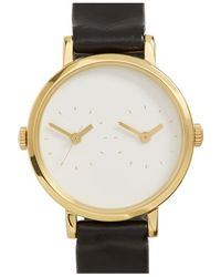 Steven Alan - 'time Traveler' Round Leather Strap Watch - Lyst