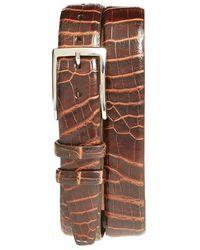 Torino Leather Company - 'nile' Genuine Crocodile Leather Belt - Lyst