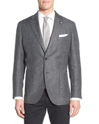 Lubiam | Classic Fit Houndstooth Linen & Wool Sport Coat | Lyst