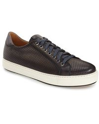 Saks Fifth Avenue | Blanco Leather Low-Top Sneakers | Lyst