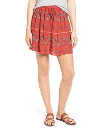 Hinge - Embroidered Miniskirt - Lyst