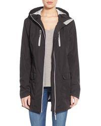 Pajar - 'gabriella' Contrast Zip Hooded Raincoat - Lyst