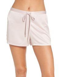 Natori - Satin Elements Pajama Shorts - Lyst
