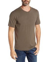 Stone Rose - V-neck Modal T-shirt - Lyst