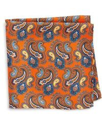 Eton of Sweden - Print Silk Pocket Square - Lyst