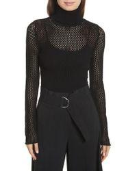 A.L.C. - Jones Fishnet Sweater - Lyst