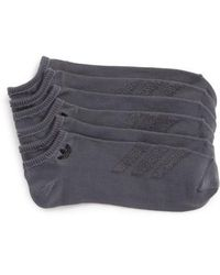 adidas Originals - 3-pack Ankle Socks, Grey - Lyst