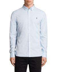 AllSaints - Redondo Slim Fit Shirt - Lyst