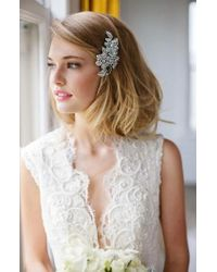 Brides & Hairpins | 'esther' Crystal Embellished Hair Clip | Lyst