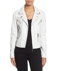 Rudsak | Asymmetrical Zip Leather Moto Jacket | Lyst