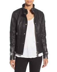 Rudsak | Pebbled Leather Biker Jacket | Lyst
