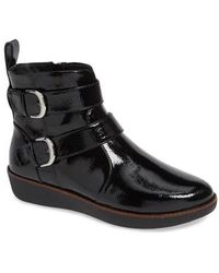 Fitflop - Laila Double Buckle Bootie - Lyst