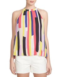 1.STATE - 'abstract Slices' Pleat High Neck Tank - Lyst