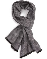 Calibrate - Houndstooth Silk Blend Scarf - Lyst