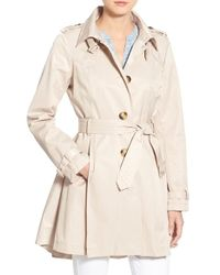 Steve Madden - Trench Coat With Detachable Hood - Lyst