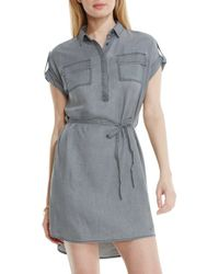 Two By Vince Camuto - Faded Twill Shirtdress - Lyst