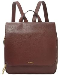 Fossil - 'preston' Leather Backpack - Lyst