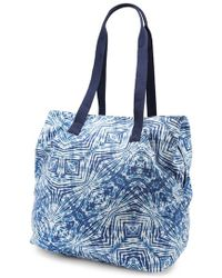 Volcom - 'paradise' Print Cotton Canvas Tote - Lyst