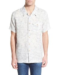 Haspel - 'martin' Regular Fit Short Sleeve Print Camp Shirt - Lyst