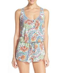 Blush By Profile - Racerback Cover-up Romper - Lyst