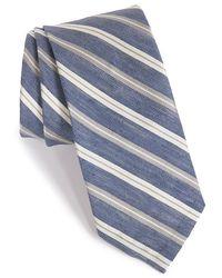 Maker & Company - Stripe Silk & Linen Tie - Lyst