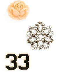 BaubleBar - 'varsity' Brooches (set Of 3) - Lyst