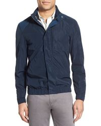 W.r.k. - 'chrysler' Packable Hooded Windbreaker, Blue - Lyst