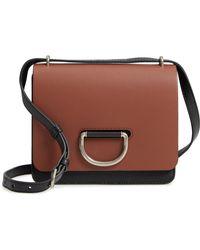 0e34674ddb3e Lyst - Burberry Alchester Calf-Leather Cross-Body Bag in Brown
