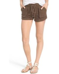 Jolt - Textured Cotton Drawstring Shorts - Lyst