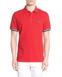 Burberry Brit - 'belville' Pique Cotton Polo Shirt - Lyst