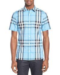 Burberry Brit | 'nelson' Trim Fit Short Sleeve Sport Shirt | Lyst