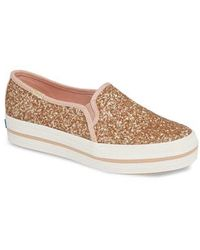 Kate Spade - Keds For Kate Spade New York Triple Decker Glitter Slip-on Sneaker - Lyst
