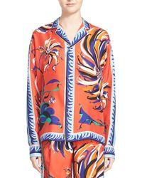 Emilio Pucci | Cactus Print Silk Pyjama Top | Lyst