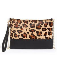 Phase 3 - Genuine Calf Hair Flap Clutch - Lyst