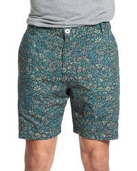 Descendant Of Thieves | 'artist Mind' Reversible Floral Print Woven Cotton Shorts | Lyst