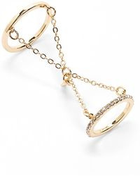 Danielle Nicole - Linked Crystal Ring Set - Lyst