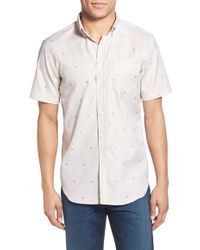 Haspel - 'rampart' Trim Fit Short Sleeve Sport Shirt - Lyst