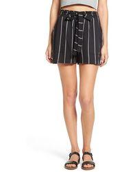 Mimi Chica - Stripe Tie Waist Shorts - Lyst