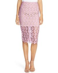 Bardot - 'flora' Lace Pencil Skirt - Lyst