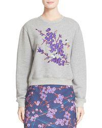 Carven - Embroidered Sweatshirt - Lyst