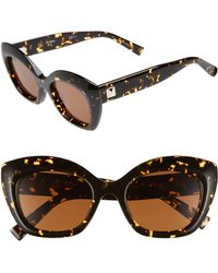 Max Mara - Prism Vii 50mm Gradient Cat Eye Sunglasses - Dark Havana - Lyst