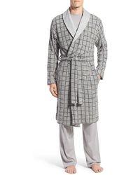UGG | Ugg 'hugh' Plaid Cotton Robe | Lyst