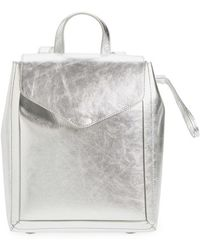 Loeffler Randall - Mini Metallic Leather Backpack - Metallic - Lyst