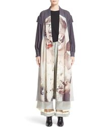 Undercover - Graphic Removable Sleeve Trench Coat - Lyst