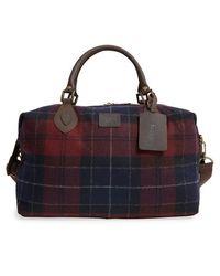 Barbour - Plaid Wool Duffel Bag - Lyst