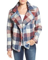 Two By Vince Camuto - Plaid Notch Collar Coat - Lyst