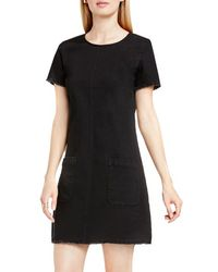 Two By Vince Camuto - Frayed Denim Shift Dress - Lyst