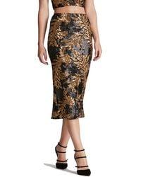 Dress the Population - 'sasha' Two-tone Sequin Midi Skirt - Lyst